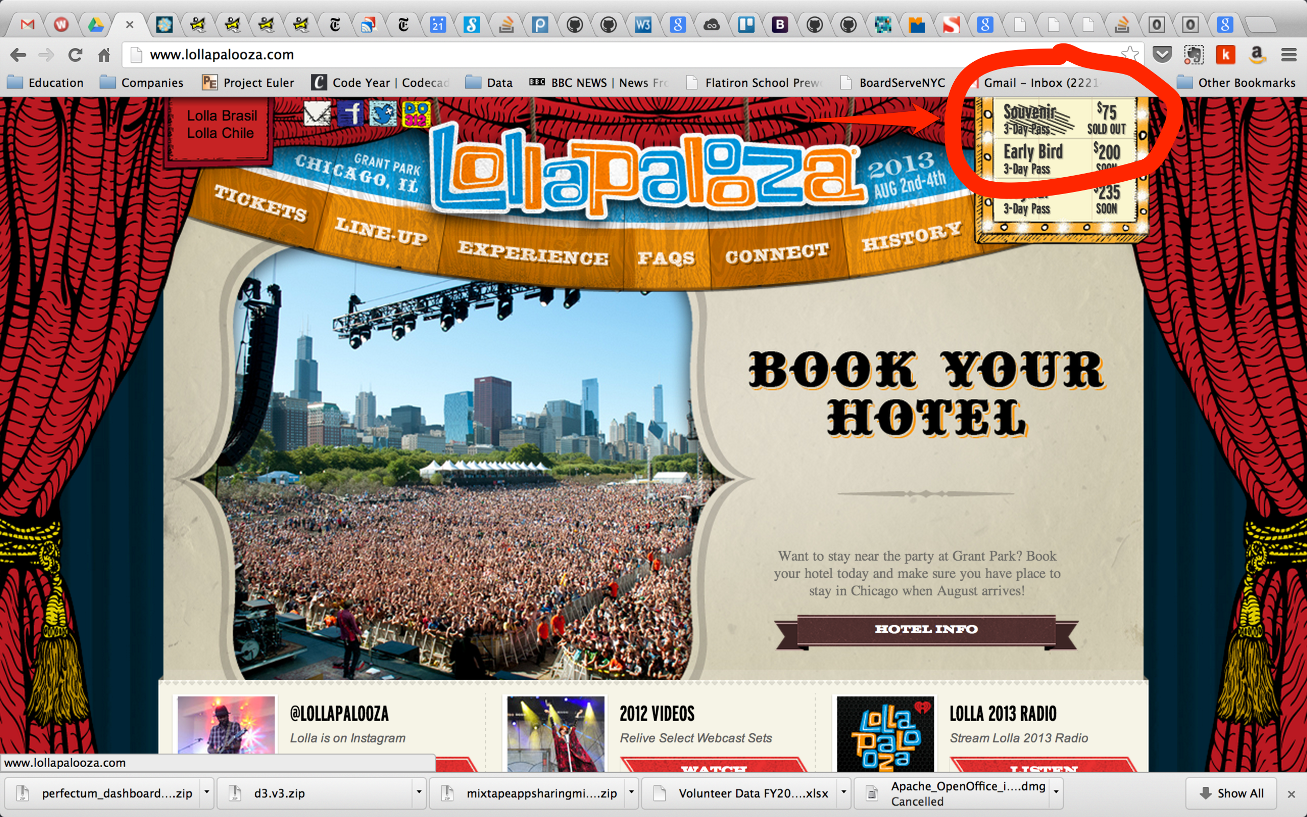 how to buy lollapalooza tickets