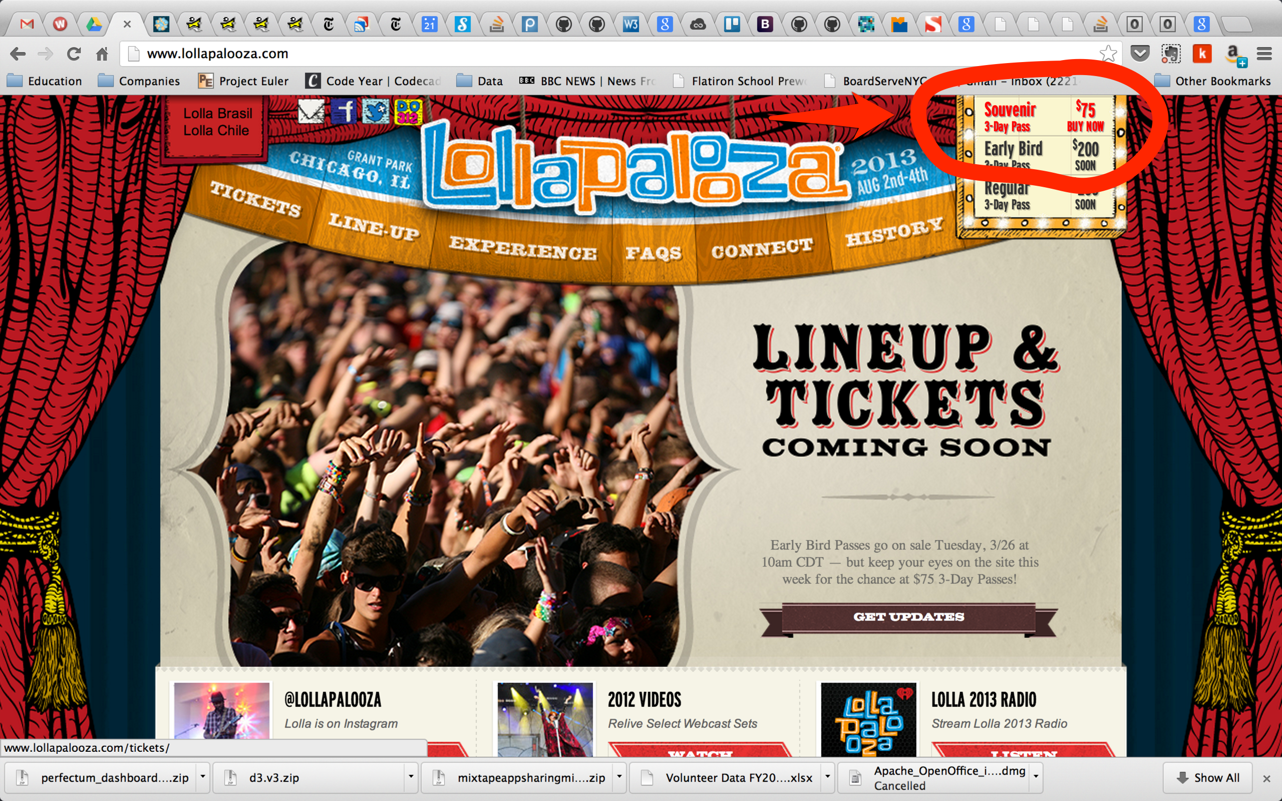 how to get lollapalooza tickets